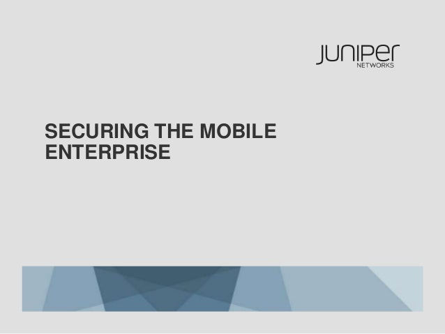 Securing the Mobile Enterprise