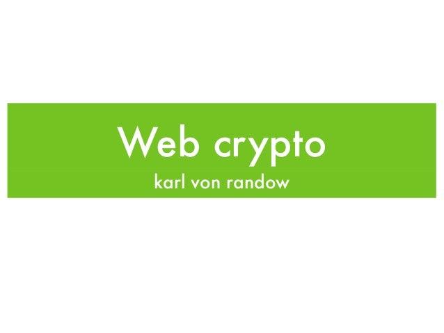 Web cryptokarl von randow