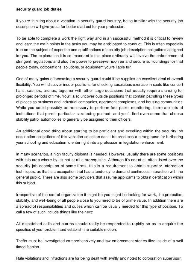job description for security supervisor nepal bank ltd chief – Machinist Job Duties