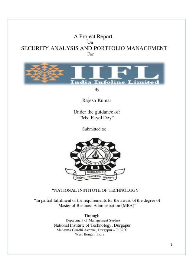 security analysis and portfolio management case study The frequency of portfolio evaluation should be a function of both the time horizon of the client and the investment philosophy of the portfolio manager however, portfolio measurement and reporting of value to clients should be done on a frequent basis.