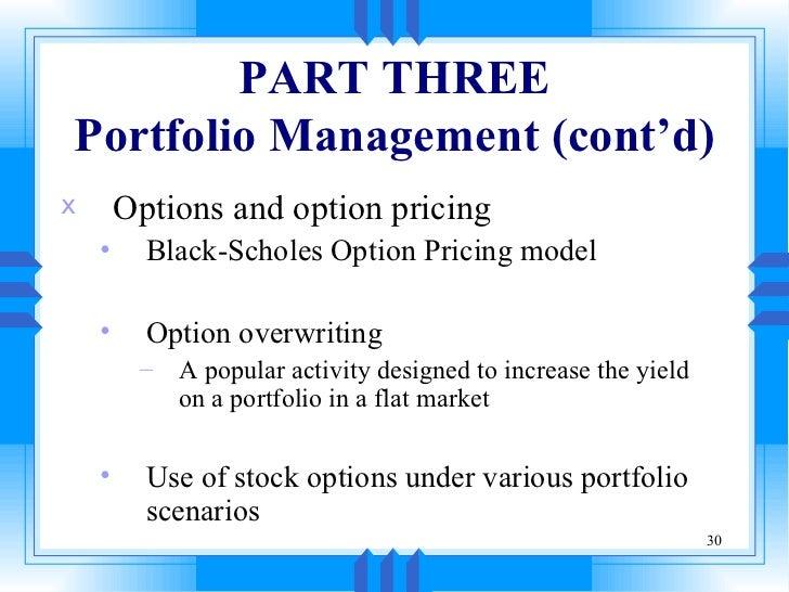 Overwrite stock options