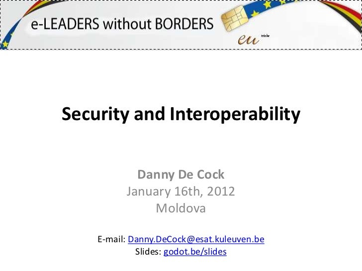 Security and interoperability