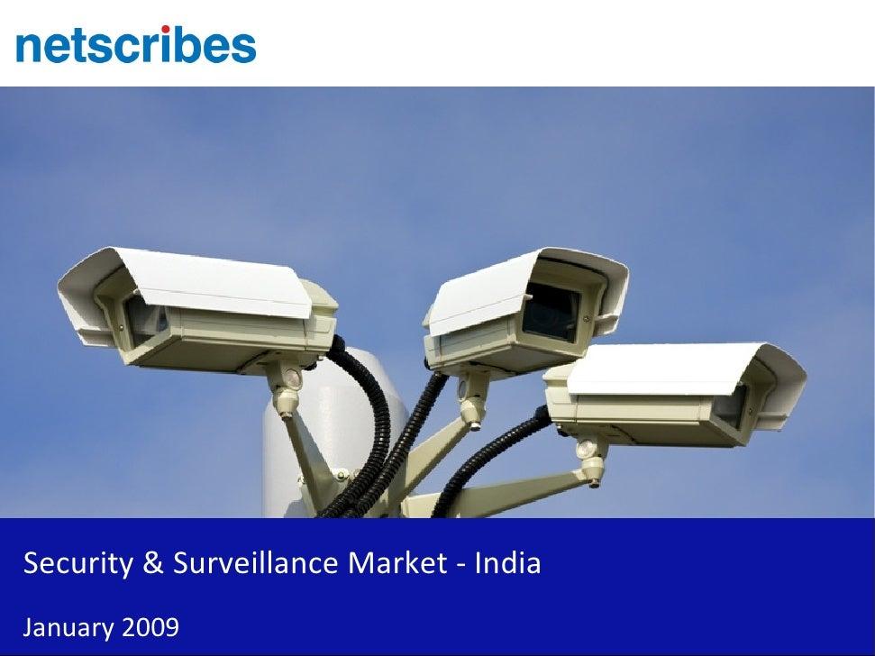 Security & Surveillance Market - India January 2009