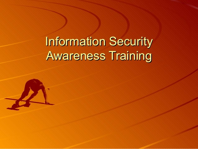 Information Security Awareness Online Training — University of ...