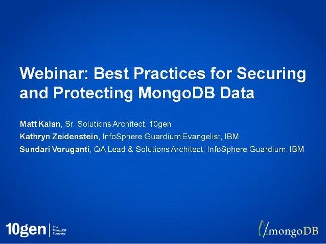 2• Authentication• Authorization• Auditing• Encryption• IBM Guardium Integration