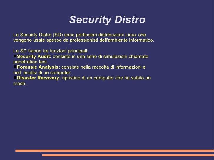 Security Distro