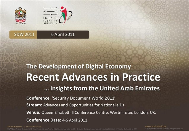 SDW 2011                                              6 April 2011                           The Development of Digital Ec...