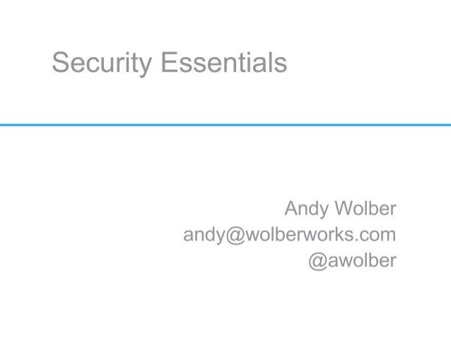 Security essentials 20130314