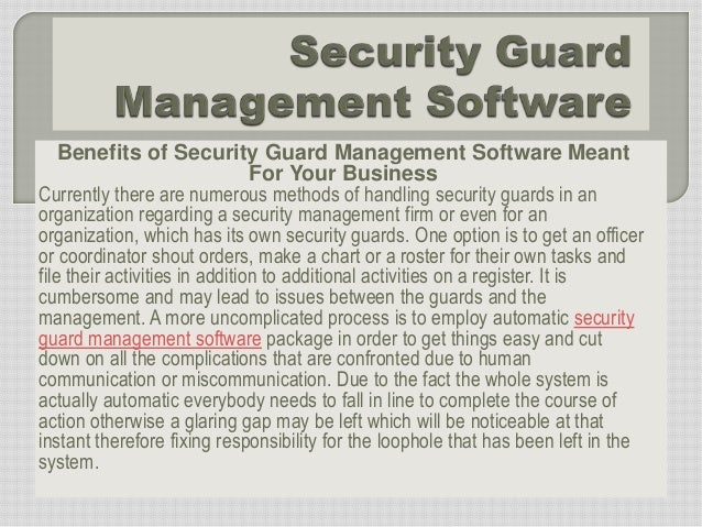 Security Guard Management Software download free software ...