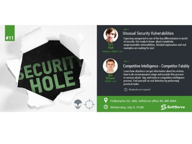 Security Hole #11 - Competitive intelligence - Beliaiev