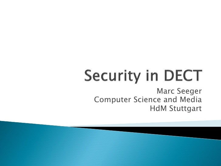 Security In Dect