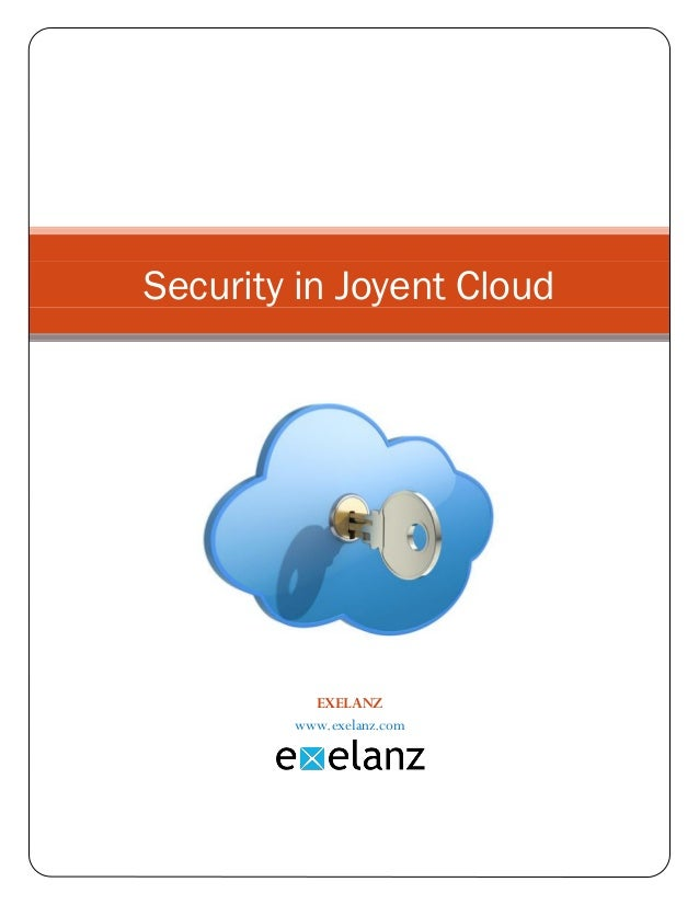 Security in joyent cloud