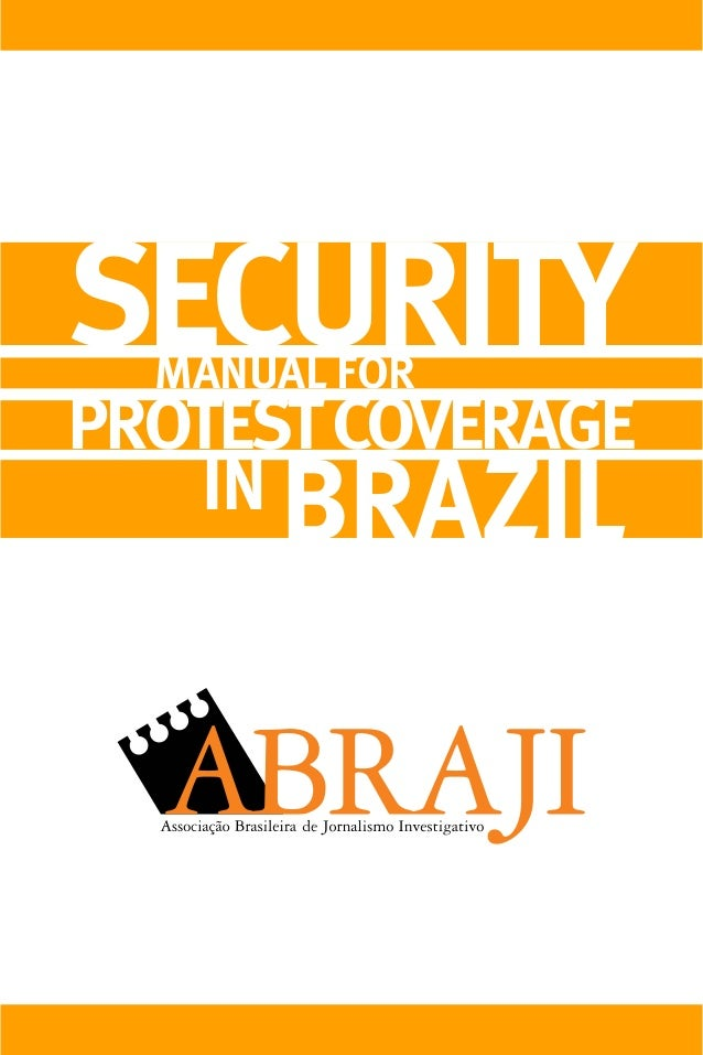 SECURITY PROTESTCOVERAGE IN BRAZIL MANUAL FOR