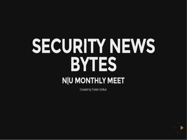 Security News Bytes  - null Dharmashala