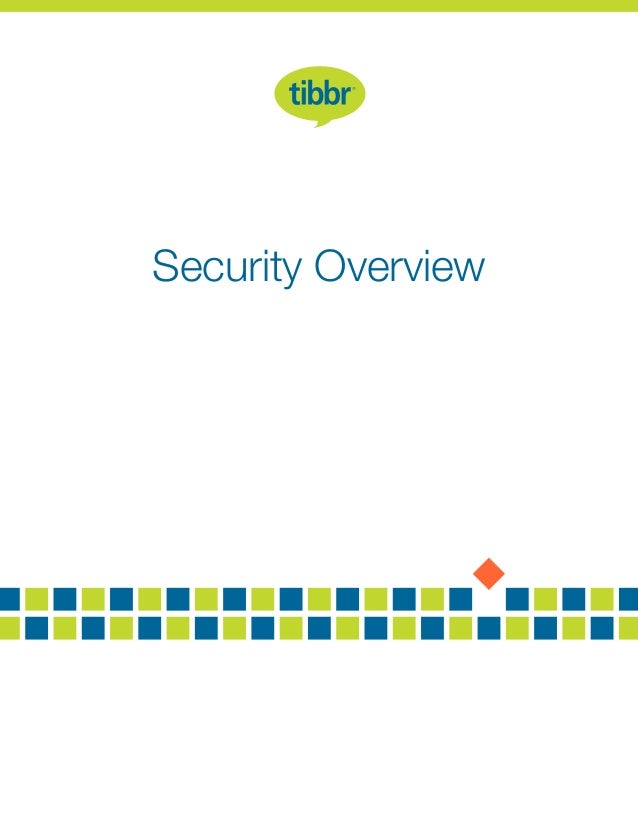 tibbr Security Overview