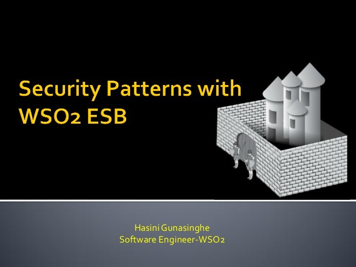 Security Patterns with the WSO2 ESB