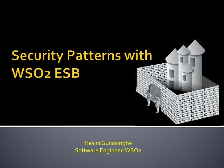 Security patterns with wso2 esb