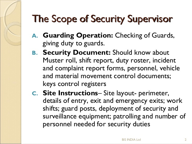 Security Guard Description – Security Officer Job Description
