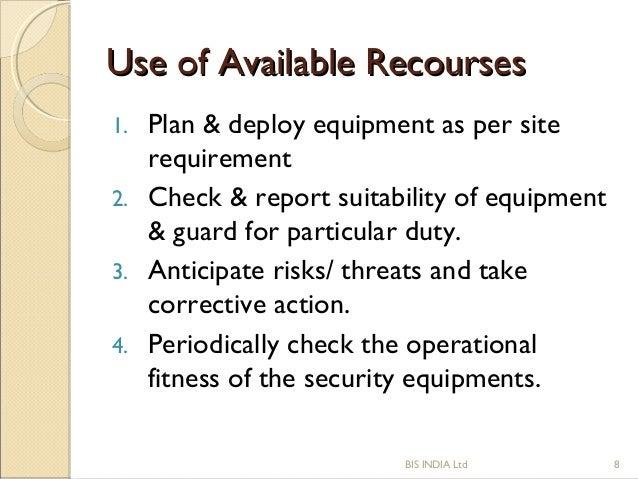 Security business plan sample
