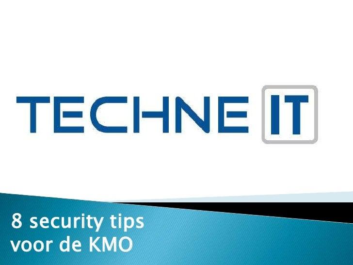 8 security tips voor de KMO<br />