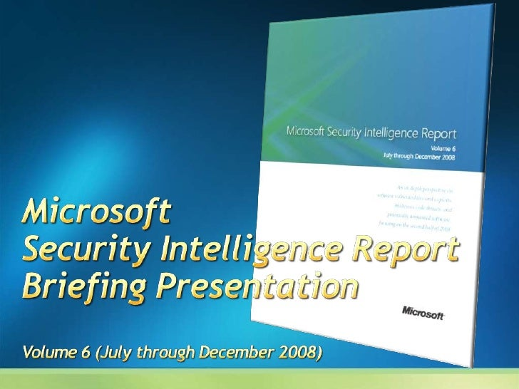 Report addresses data and trends observed over the past several years, but focuses on the second half of 2008 (2H08) Major...