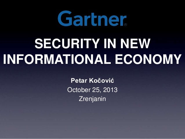 Security in New Information Economy