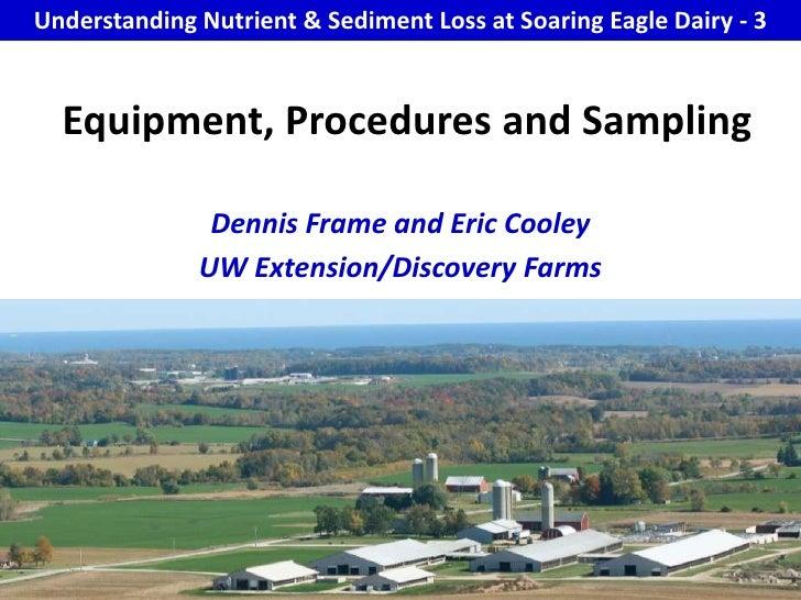 Sed 3 Equipment Procedures And Sampling