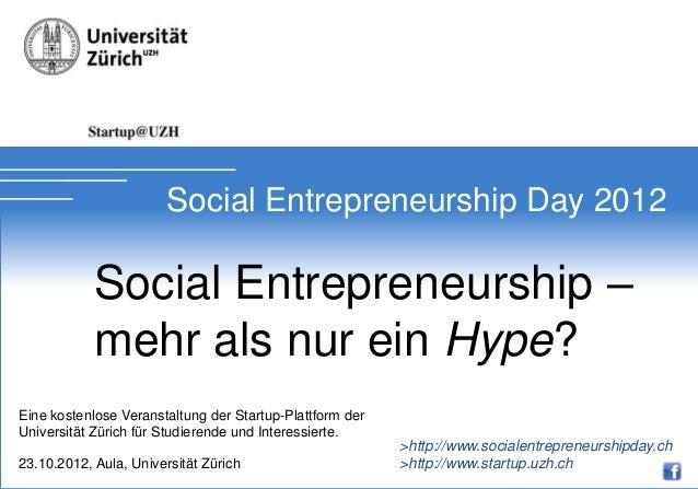 Soial Entrepreneurship Day 2012                        Social Entrepreneurship Day 2012            Social Entrepreneurship...