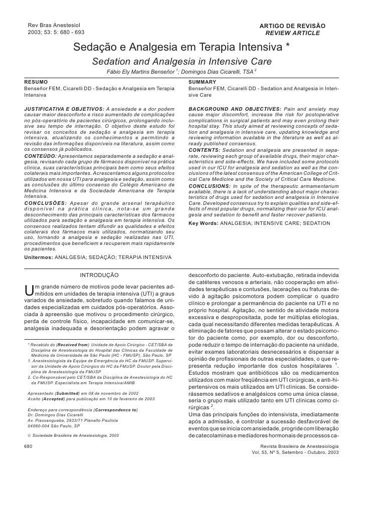 Rev Bras Anestesiol                                                                                     ARTIGO DE REVISÃO ...