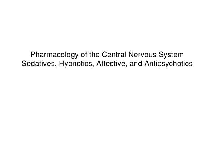 Sedatives, hypnotics, affective and antipsychotic medications for odla exercise