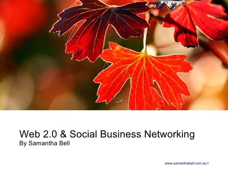 Web 2.0 & Social Business Networking By Samantha Bell