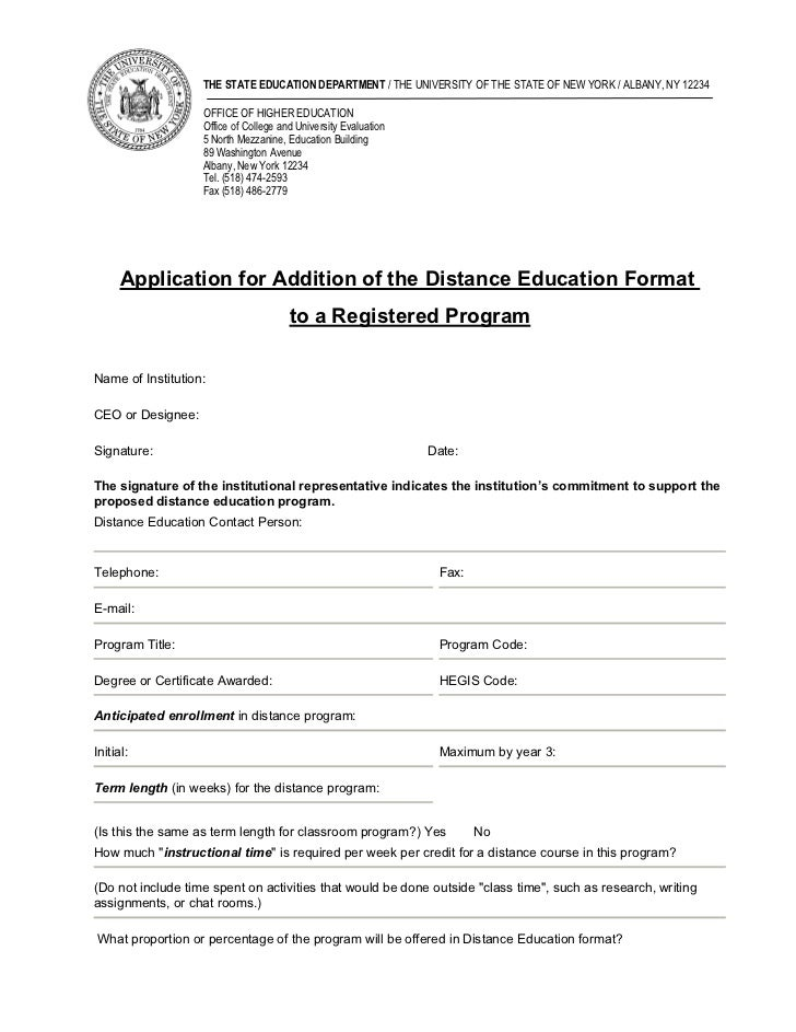 THE STATE EDUCATION DEPARTMENT / THE UNIVERSITY OF THE STATE OF NEW YORK / ALBANY, NY 12234                   OFFICE OF HI...