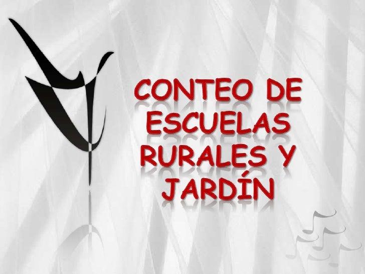 Sedes Rurales Conteo