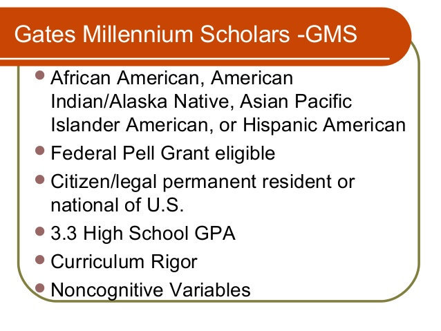 Gates millenium scholarship essay help