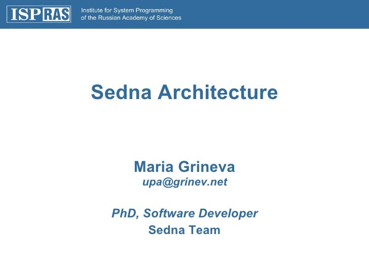 Architecture of Native XML Database Sedna