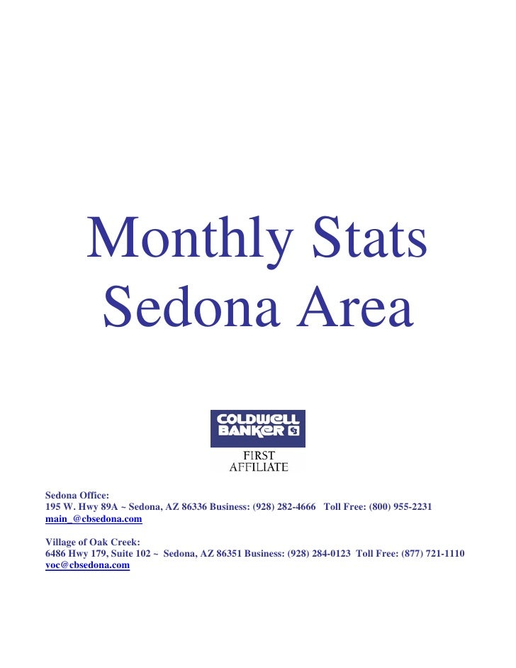 Sedona Stats Report for April