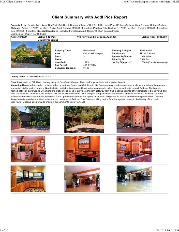 Sedona Weekly Real Estate Transaction Report