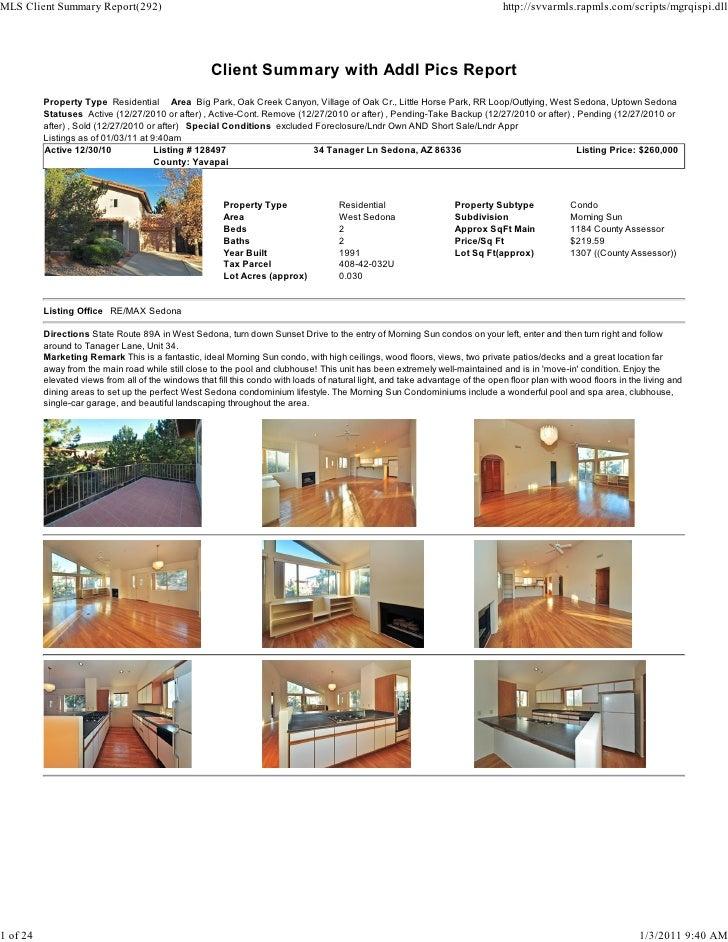 Sedona Weekly Real Estate Transaction Report