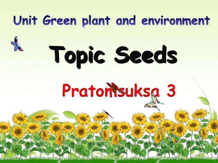 Topic Seeds