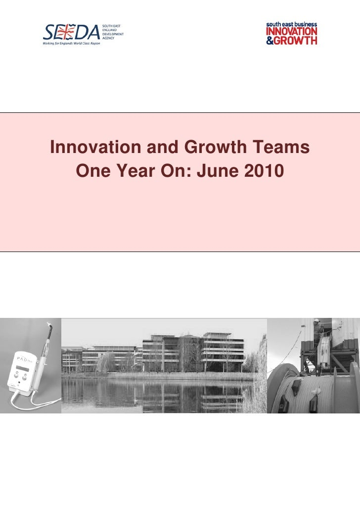 SEEDA Innovation and Growth Teams One Year On (june 2010)