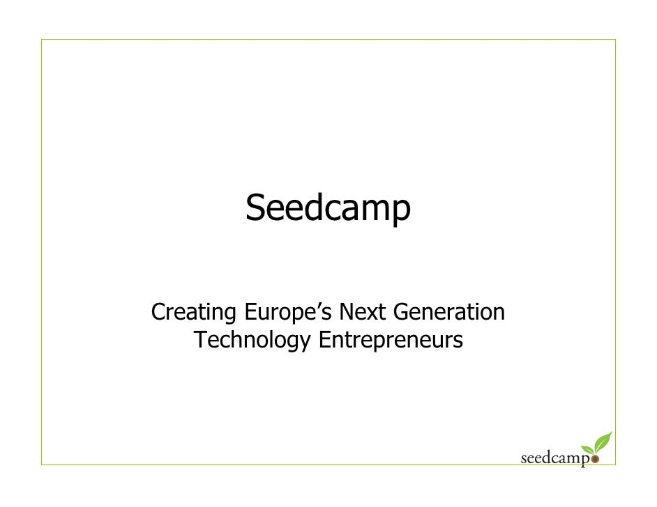 Seedcamp Overview