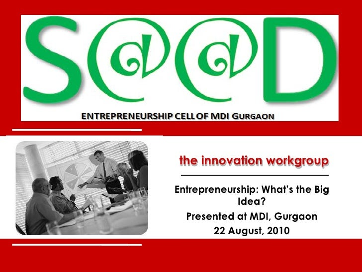 SEED - MDI: Workshop on Idea Generation