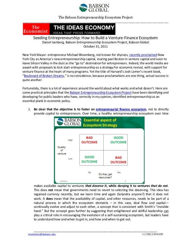 The Babson Entrepreneurship Ecosystem Project __________________________________________________________________  Seeding ...