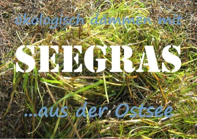 ökologisch dämmen mit seegras ...aus der Ostsee