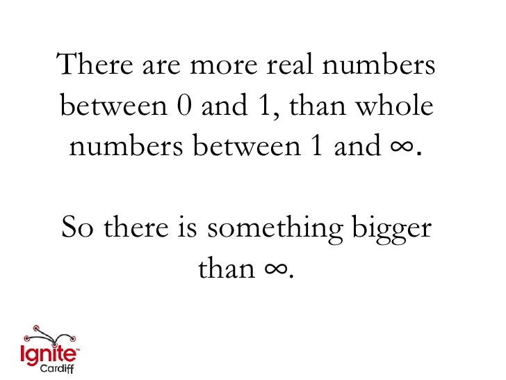 Real Numbers Infinity There Are More Real Numbers