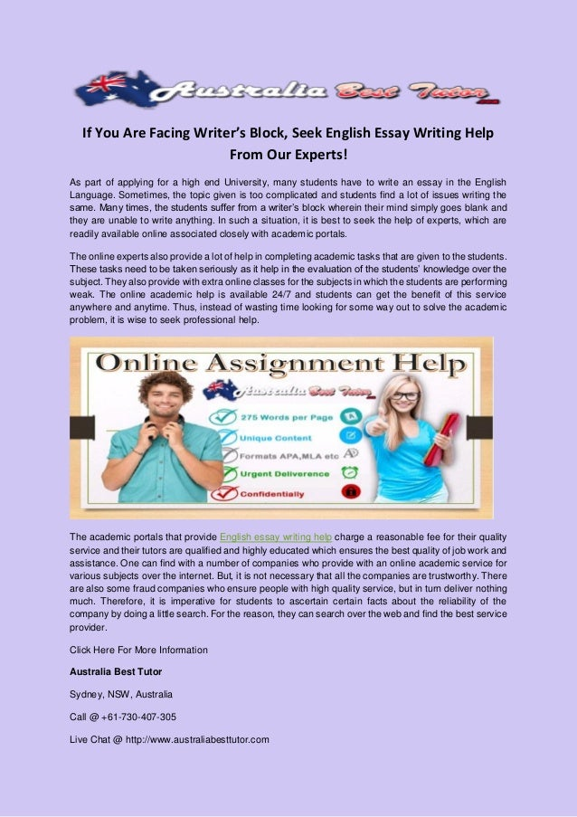 english essay help Connect with a live, online essay writing tutor available 24/7 through video, chat, and whiteboards get live essay writing help from university experts.