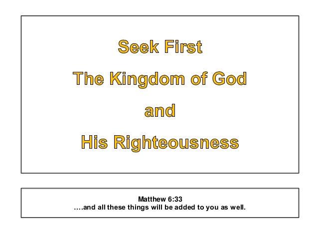 BIBLE - Seek First The Kingdom Of God - White Background