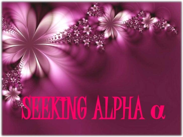 Seeking alpha α