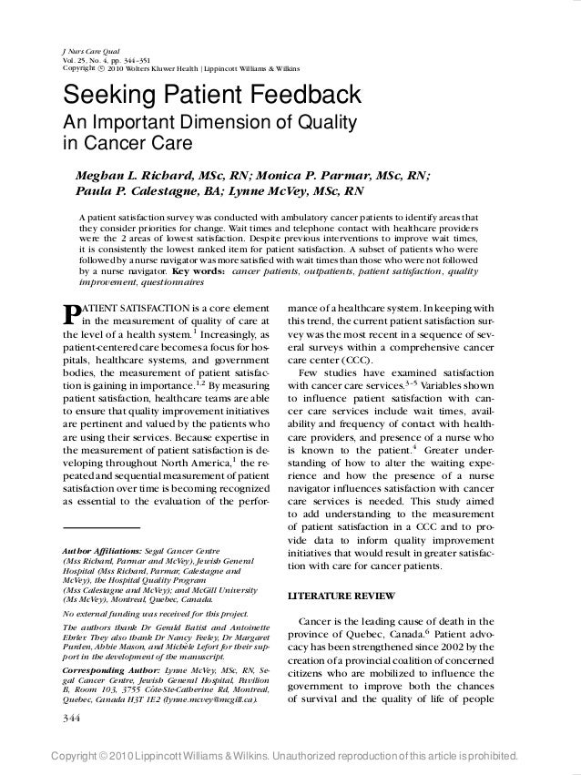 LWW/JNCQ NCQ200075 August 17, 2010 13:58 Char Count= 0 J Nurs Care Qual Vol. 25, No. 4, pp. 344–351 Copyright c 2010 Wolte...