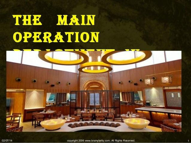 Hotel Main department